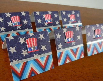Stars, Stripes and Hats Mini Cards 2x2 (6)