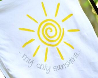 You are my sunshine baby blanket, baby gift for newborn, sunshine theme, gray and yellow, sunny yellow and gray baby gift, baby blanket
