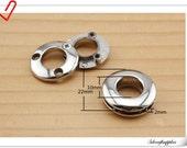 1 cm / 3/8 inch  ( inner diameter ) silver Alloying Grommet Eyelet  8pcs  E33