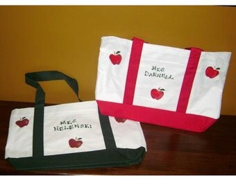 Apple Tote for Teachers - Personalized Teacher Gift