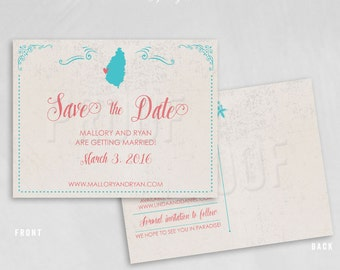 St. Lucia Destination Wedding – Save the Date