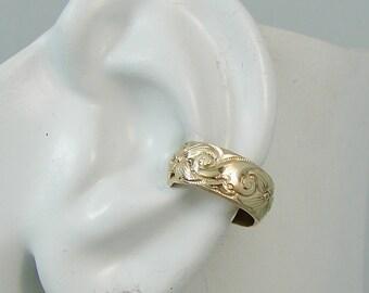 Ear Cuff Gold Non-pierced Cartilage Wrap Earring Fake Conch No Piercing Cuff Earring Simple Earcuff Cuff Earring Faux Pierced Swirl  EWSWGF