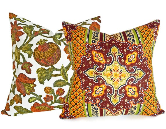 Mid Century Modern Pillows Fall Pillow in by PillowThrowDecor