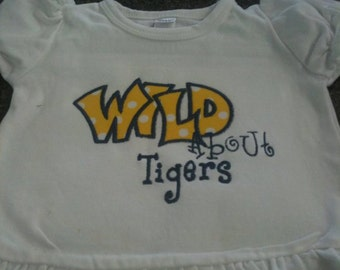 Wild about ....  Custom Spirit Shirt for kids
