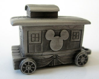 Genuine Pewter Vintage Disney Train Express Caboose Collectible Gift Original Box
