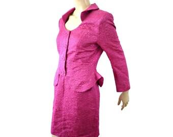 FAUST Fench Vintage 80s Pink Jacquard Suits