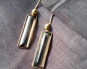Smokey Quartz Earrings in Gold