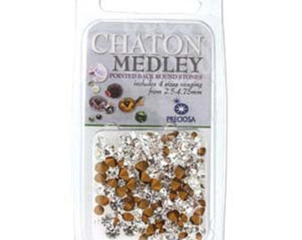 Preciosa Chaton Mix Pointed Back Cut Crystals for Crystal Clay You Choose Color