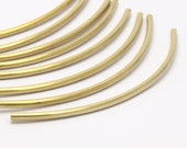 12 Raw Brass Curved Tubes (3x100 Mm) Bs 1418