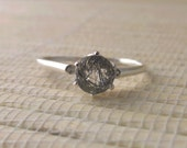 Tourmalinated Quartz Sterling Silver Ring Ready to Ship 8.5