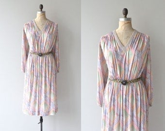 Missoni silk dress | vintage 1970s dress • silk striped Missoni dress
