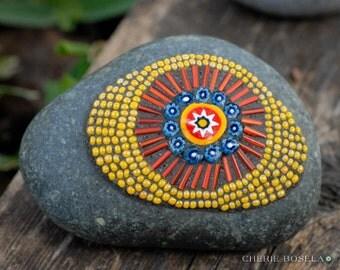 Mosaic beaded rock