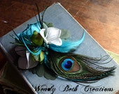Something Blue - ATS or Tribal Belly Dance Hair Art Fascinator Clip