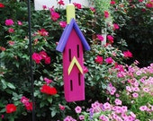 Butterfly House, Hanging Butterfly House, Painted Butterfly House, Whimsical Butterfly House