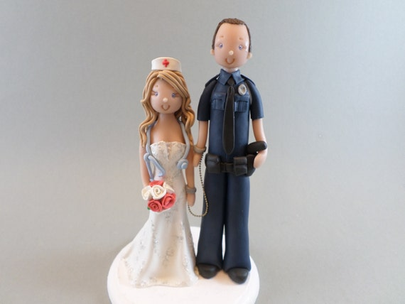 police officer and nurse wedding cake topper officer amp custom wedding cake topper 18671