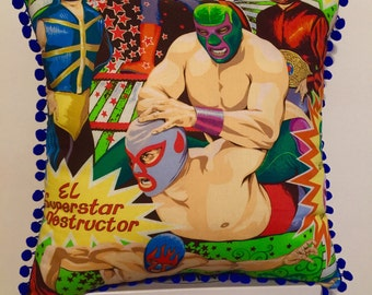 Luchador Decorative Pillow