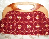 Vintage 70s Floral Clutch  Made in Hong Kong
