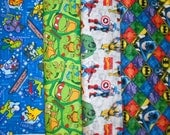 SUPER HEROS #5 fabrics, sold individually,not as a group, sold by the Half Yard, please see body of listing