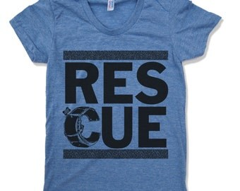 Womens Pet RESCUE T Shirt american apparel S M L XL (16 Colors Available) - Proceeds Donated to Local Rescue