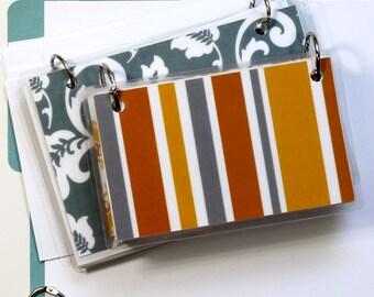 4 x 6 Index Card or Note Card Binder, Suzani Set, Grey Orange