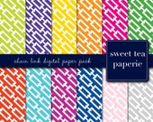 Chain Link Digital Paper Pack (Immediate Download)
