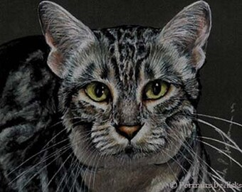 Egyptian Mau Cat Art Note Card