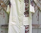 Tuscon flair - vintage 70s Vicky Wayne dress L XL XXL