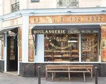 Paris Photography, Parisian Boulangerie, Paris, France, Paris bakery, baby blue, paris wall art, paris decor, rebecca plotnick