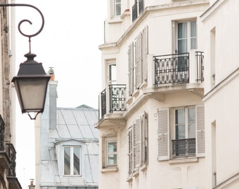 Paris Photography, Morning in the Marais, St Paul, soft blue and grey tones - French Decor - Paris Wall Art