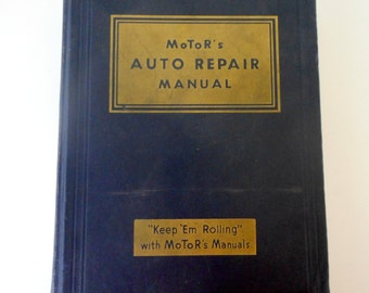 Vintage Motors Auto Repair Manual 1935 to 1950s 16th Edition Car Service Book