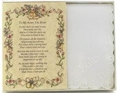 Personalized Poetry Hankie for Bride from Sister Wedding Handkerchief - BH142
