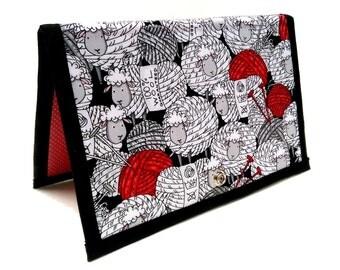 Knitting Crochet Pattern Holder - miPattern Wallet Chart Keeper - Yarn Ball Sheep