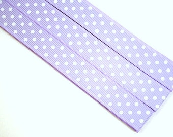 Pattern Magnet - Chart Keeper Magnetic Bookmark - Knitting Crochet Supplies Tools - Set of 3 - Polka Dots (light purple)