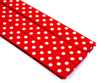 Pattern Magnet - Chart Keeper Magnetic Bookmark - Knitting Crochet Supplies Tools - Set of 3 - Polka Dots (red)