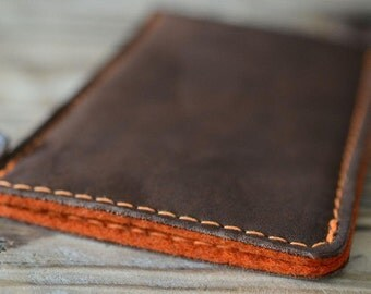 Galaxy S8, Galaxy S8+ Leather Sleeve - THE AUTUMN, Organic Leather
