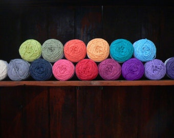 Handspun Organic Cotton Yarn - Choice of 15 colors