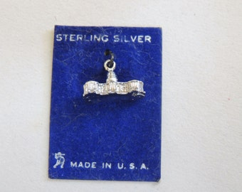 White House Sterling Silver Charm