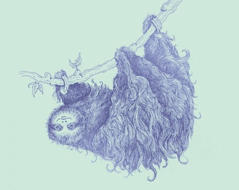 Slothy - 8x10 print