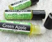 Green Apple Rollon Perfume, Granny Smith Apple fragrance, concentrated formula,  Vegan handmade perfume, fruit scented