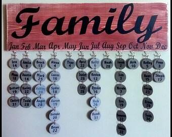 Barn Red Family Birthday Sign