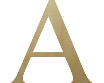 Wooden Greek Letter Alpha (A) Paintable