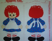 Vintage Raggedy Ann Tunic Costume or Stuffed Toy