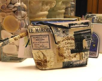 Vintage Paris Postcard MakeUp or Toilette Bag