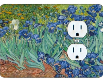 Van Gogh Irises Painting Duplex Outlet Plate Cover
