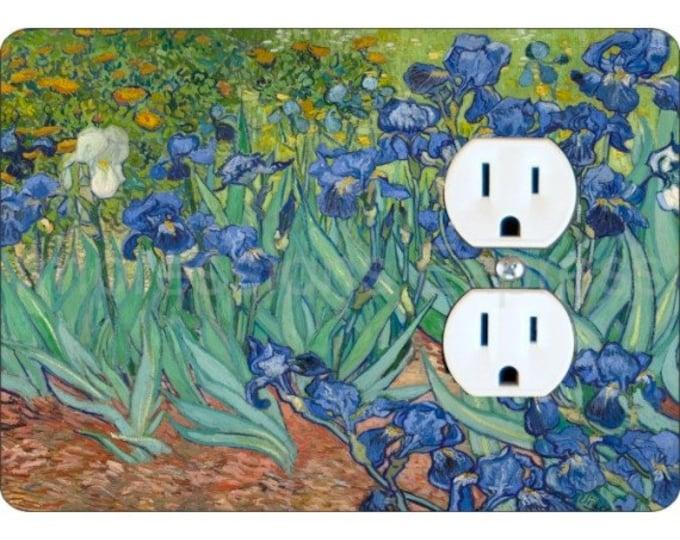 Van Gogh Irises Painting Duplex Outlet Plate Cover