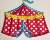 Iron On Circus Tent - Embroidered Custom Made Applique