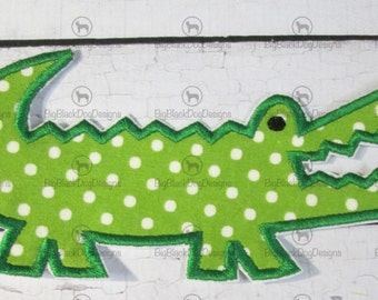 Alligator - Iron On or Sew On Embroidered Applique - READY TO SHIP in 1-3 Business Days