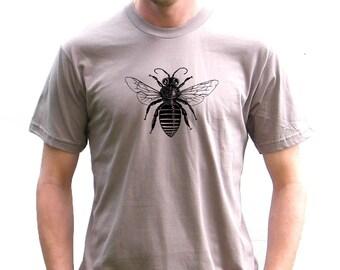 Mens Organic American Apparel Tshirt - Bee Tshirt - Small, Medium, Large, Extra Large, XXL