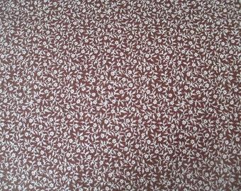 Brown Petal Aesop's Fable Fabric - Penny Rose - Erin Turner - C4514