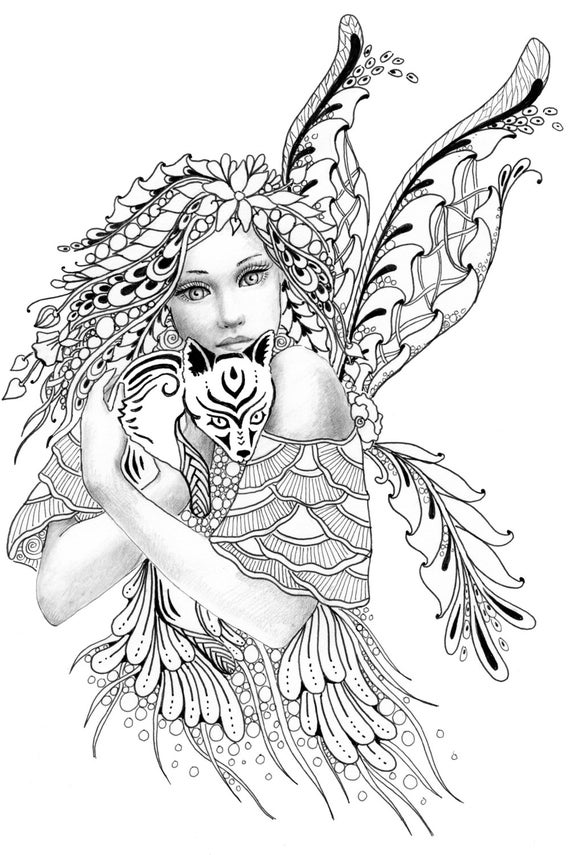 Dragon Coloring Pages furthermore  as well Foxie Fairy Tangles Digi St  Fairy And in addition Wallaby besides Harry potter logo transparent. on bennett coloring pages